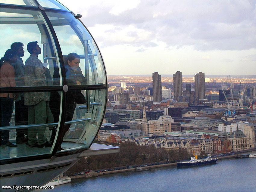A capsule of The London Eye and the Barbican