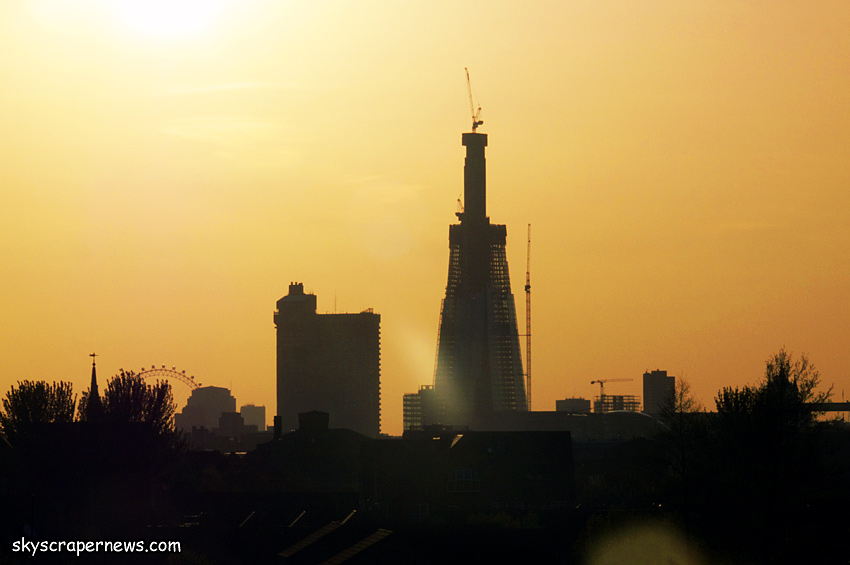 The Shard under construction, April 2011