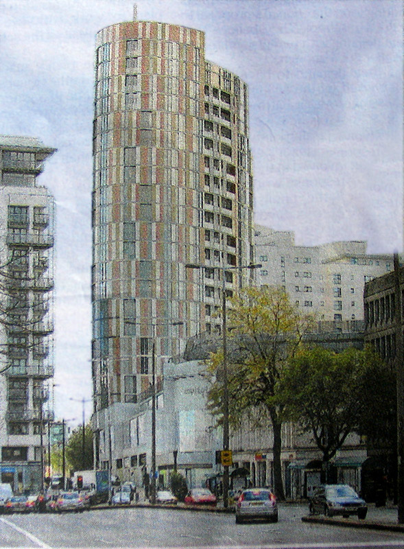 Render of Capitol Apartments, Cardiff