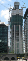 Pan Peninsula West Tower under construction, June 2007