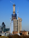 The Shard under construction, March 2011