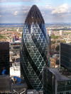 30 St Mary Axe from 20 Fenchurch Street