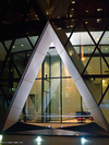 30 St Mary Axe entrance at night